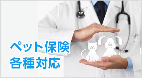 ペット保険各種対応